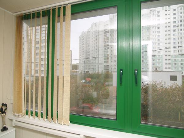 Цветные пластиковые окна фото