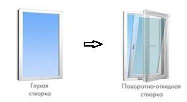 Переделка окна из поворотного в поворотно-откидное