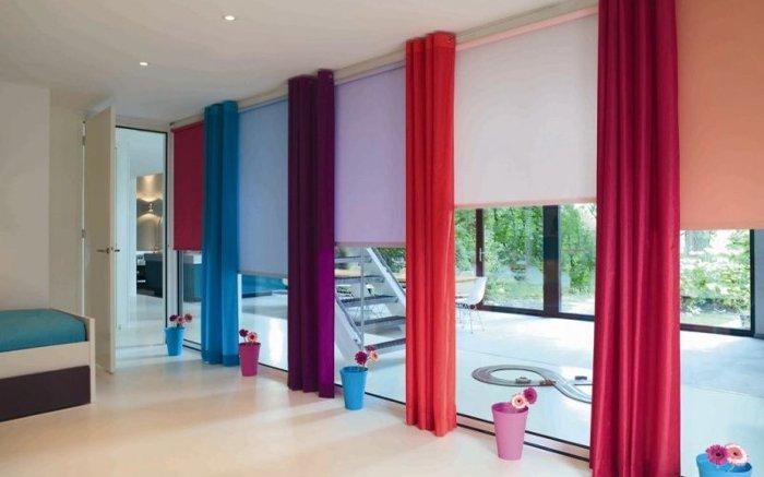 шторы для французского окна в днепре рулонные шторы